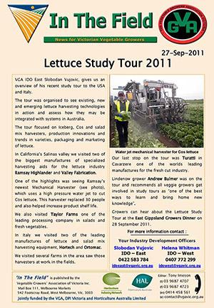 Lettuce Study Tour - USA & Italy - 2011