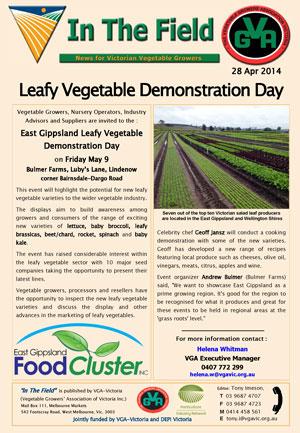 Leafy Vegetable Demonstration Day