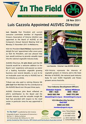 Luis Gazzola appointed AUSVEG Director
