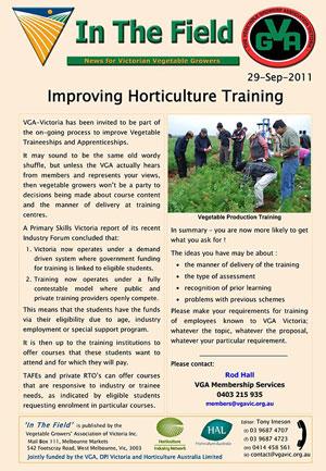 Improving Horticulture Training