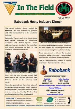 Rabobank Hosts Industry Dinner