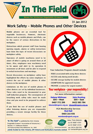 Work Safety - Mobile Phones & other Devices