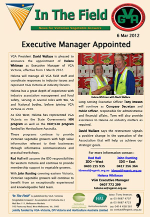 Executive Manager Appointed