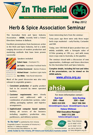 Herb and Spice Association Seminar