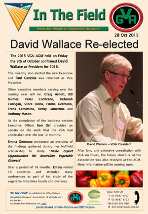 David Wallace Re-elected