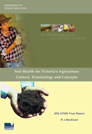 Soil Health for Victoria�s Agriculture Context, Terminology and Concepts - 2007