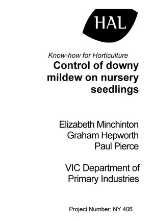 Report - Control of downy mildew on nursery