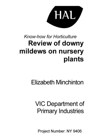 Review of downy mildews on nursery plants