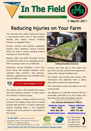 Reducing Injuries on Farm