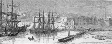 ships on the yarra