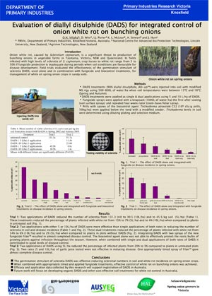 Poster - Evaluation of diallyl disulphide (DADS) for integrated control of onion white rot on bunching onions