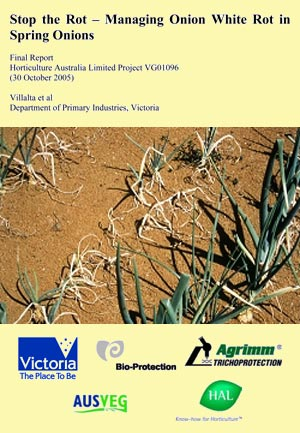 Stop the Rot � Managing Onion White Rot in Spring Onions - 2005