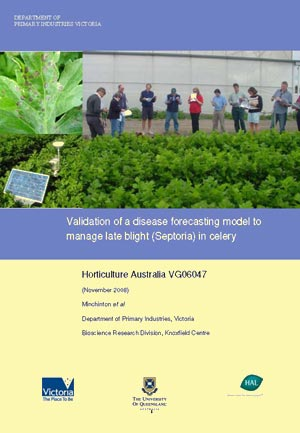 Validation of a disease forecasting model to manage late blight (Septoria) in celery - 2008
