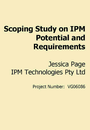 Scoping Study on IPM Potential and Requirements - 2008