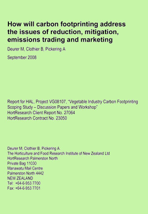 How will carbon footprinting address