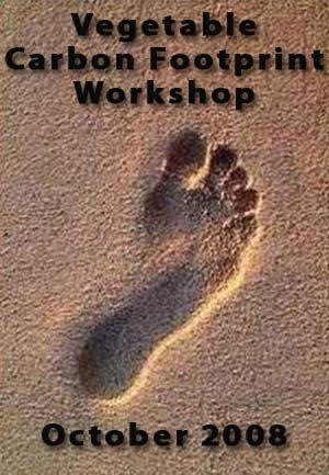 Summary of the Carbon Footprint Workshop - October 2008