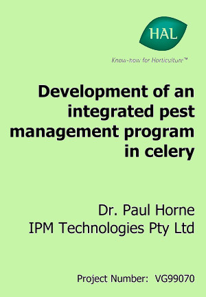 Development of an integrated pest management program in celery - 2004
