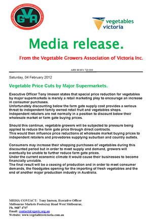 Supermarket Vegetable Discounts