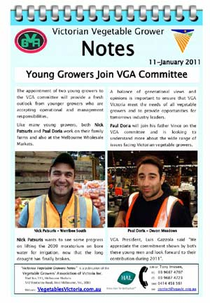 Young Growers Join VGA Committee