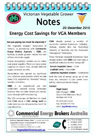 Energy savings for VGA members