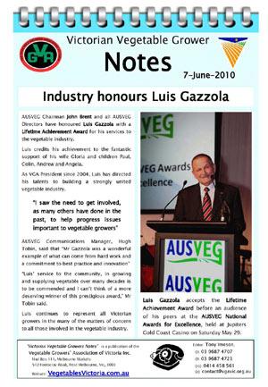 Industry Honours Luis Gazzola