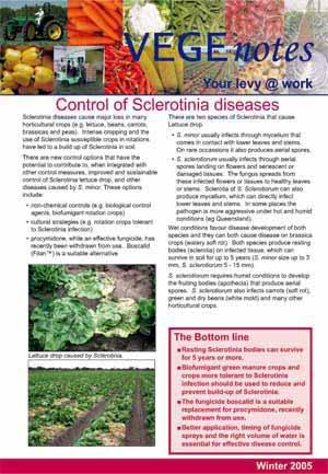 Sclerotinia control