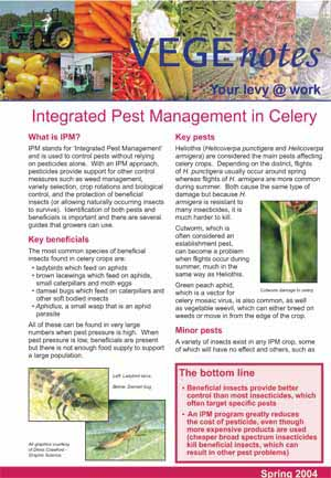 Integrated Pest Management in Celery