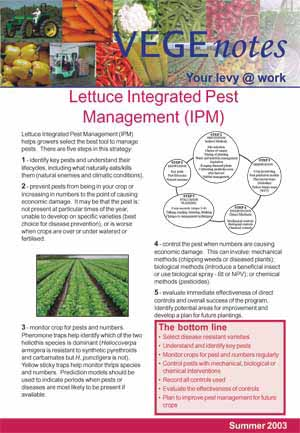 Integrated Pest Management in Lettuce