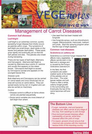 Managing carrot pests and diseases