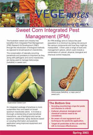 Integrated Pest Management in Sweet Corn