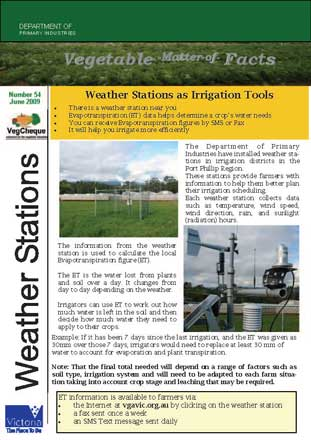 Matters of Facts #54 VWeather Station Irrigation Tools June 2009