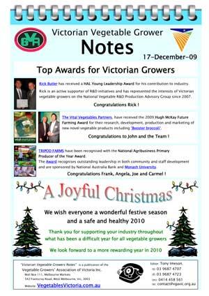 Award winners Rick Butler, Vital Vegetables, Tripod Farms