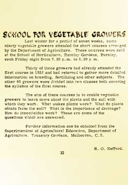 Training 50 years ago