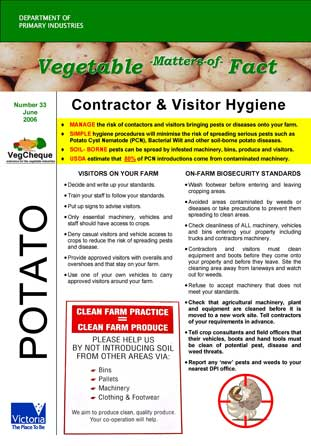 Matters of Facts #33 Visitor Hygiene Jun 2006