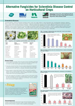 VG00048 Alternative Fungicides for Sclerotinia Disease Control - Poster