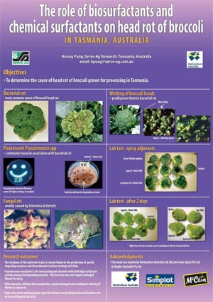 VG01082 Role of surfactants on broccoli head rot