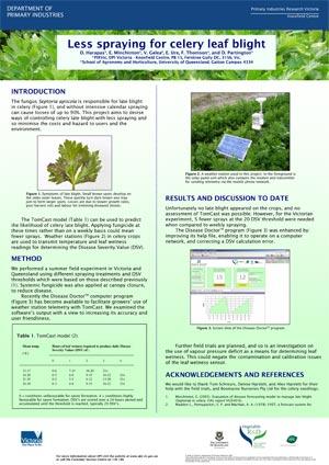 VG04016 Celery Septoria leaf blight- Poster