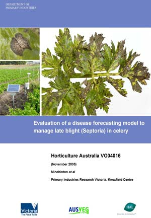 VG04016 Evaluation of a disease forecasting model to manage late blight (Septoria) in Celery