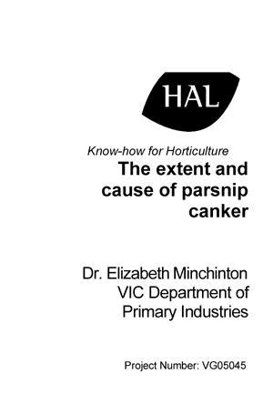 VG05045 Extent and Cause of Parsnip Canker
