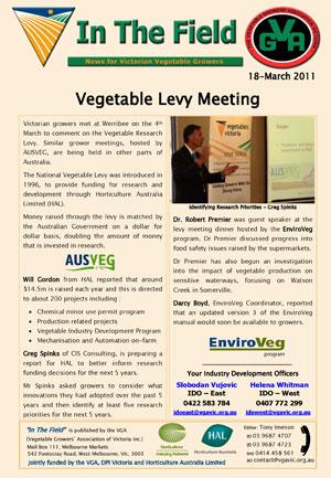 Vegetable Levy Meeting